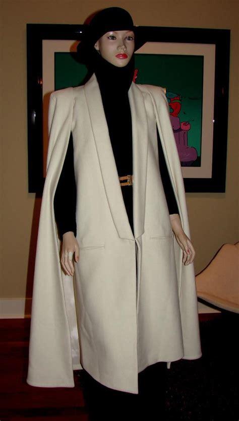 ed2bf8d1c77 olcay gulsen cape coat new sz s at 1stdibs olcay gulsen cape coat wool  winter white