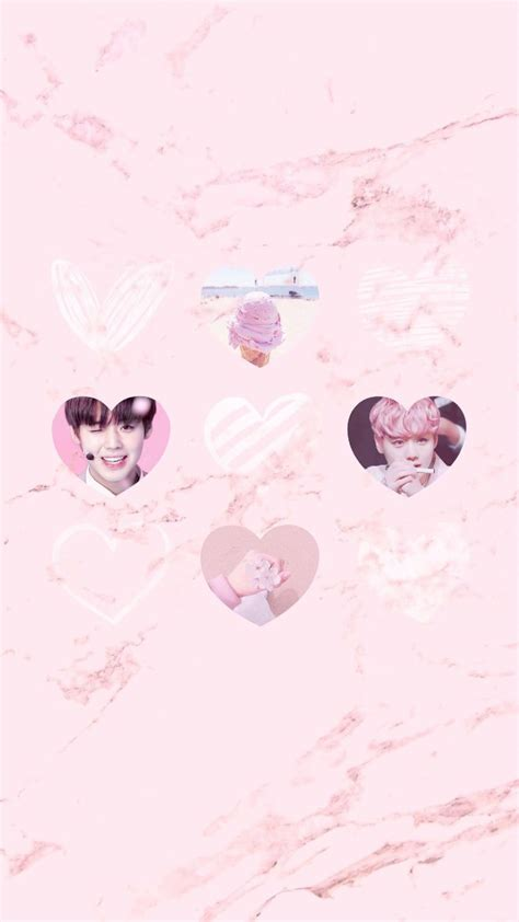 wanna  park jihoon pink marble iphone wallpaper pastel