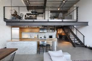 living room kitchen ideas industrial loft in seattle functionally blending materials