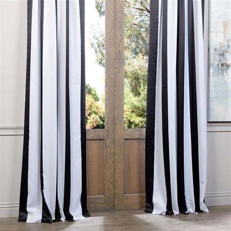black and white striped curtains 96 awning black and white stripe 96 x 50 inch blackout