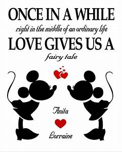 Mickey and Minnie Love Print