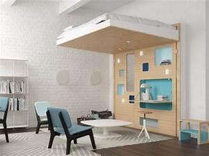 Lit Mezzanine Dressing : 80 lits mezzanine pour gagner de la place elle d coration ~ Dode.kayakingforconservation.com Idées de Décoration