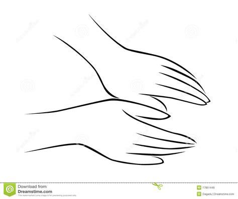 hand massage stock vector illustration  pressure