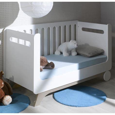 heures de bureau lit bébé évolutif 70x140 cm pepper blanc