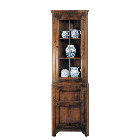 corner cabinet with glass doors english oak corner cabinet with glass doors