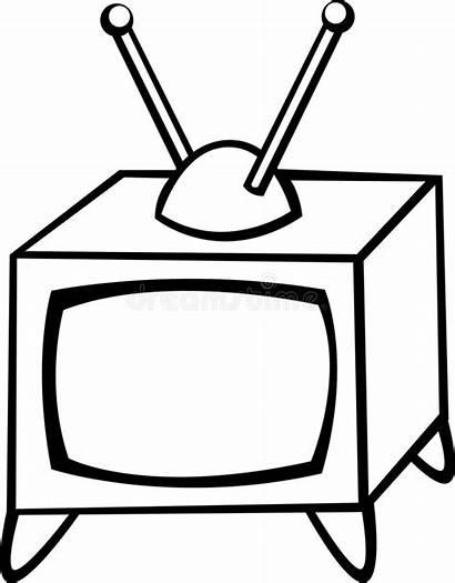 Television Colour Vector Repair Illustration Manual Antique