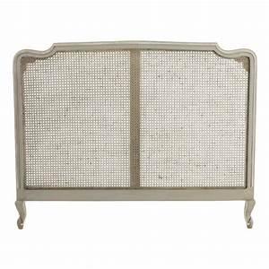 Tete De Lit 160 Cm : t te de lit en manguier grise l 160 cm beaumanoir maisons du monde ~ Teatrodelosmanantiales.com Idées de Décoration