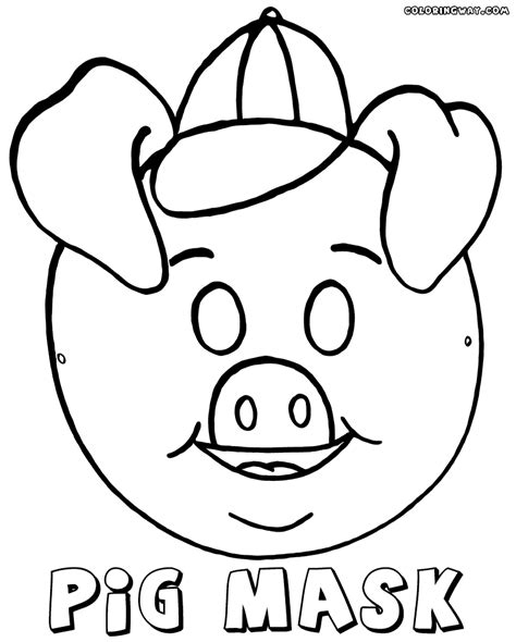 Coloring Mask by Mask Coloring Pages Coloring Pages To And Print