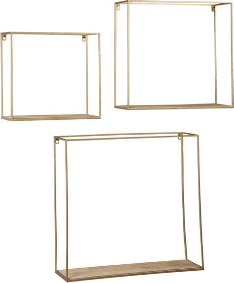 gold wall shelf efharis and gold wall shelf set of 3 from