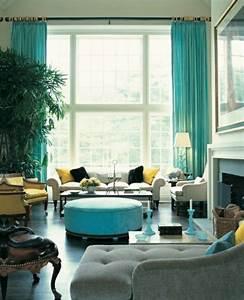 Voilage Bleu Turquoise : le rideau voilage dans 41 photos ~ Teatrodelosmanantiales.com Idées de Décoration