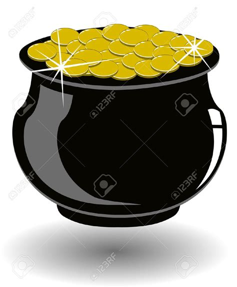 st patricks day clipart pot of gold clipartsgram
