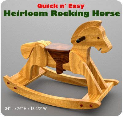 quick easy heirloom rocking horse wood toy plans   wood toys plans wood