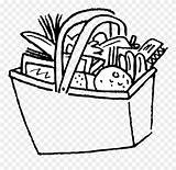 Pantry Basket Drawing Coloring Clipart Pages Pinclipart Report sketch template