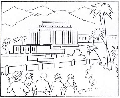 Building The Temple Coloring Pages Temple Coloring Page Lds Lesson Ideas