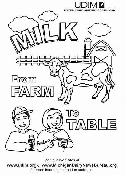 Coloring Dairy Pages Milk Clip Popular
