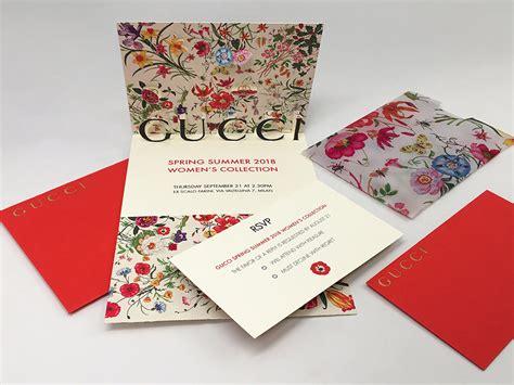 GUCCI Invitation card Student Invitation Design Award Winner