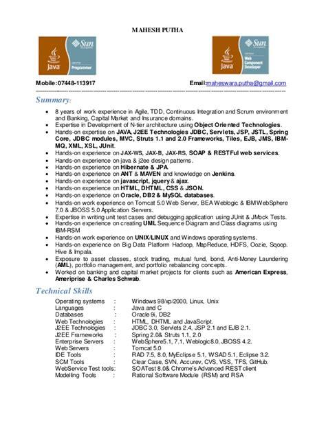 Hadoop Architect Resume by Mahesh Java Cv Hadoop