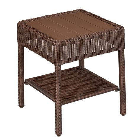 hton bay table l brown wicker patio table hton bay brown all weather