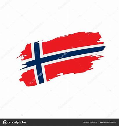 Norwegen Flagge Flag Norway Vektor Stockillustration Artbutenkov