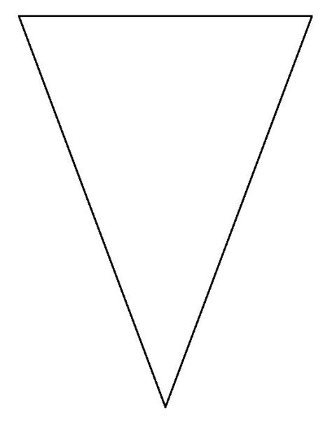 big triangle template printable 25 best ideas about triangle template on pinterest