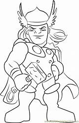 Thor Coloring Pages Super Hero Squad Cartoon Coloringpages101 Pdf sketch template