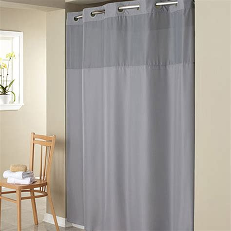 hookless gray mystery polyester shower curtain