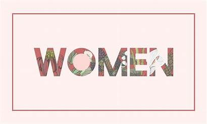 Word Woman Illustration Decorated Flower Flowers Pattern