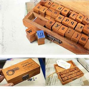 30pcs set vintage wooden lowercase alphabet letters rubber With large letter stamps for wood