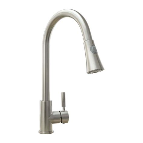 brushed nickel single handle kitchen faucet cosmo single handle pull sprayer kitchen faucet with