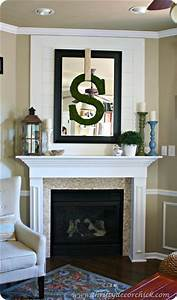 Mantels wall treatments and mirror on