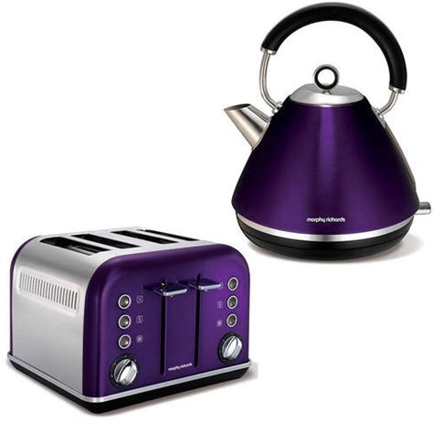 Morphy Richards Plum Accents 4 Slice Toaster And Kettle