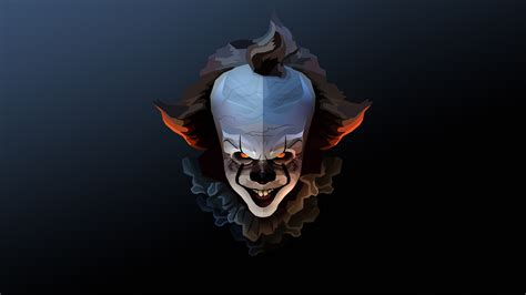 Background Digital Pennywise Clown Pennywise Wallpaper pennywise the clown fanart hd artist 4k
