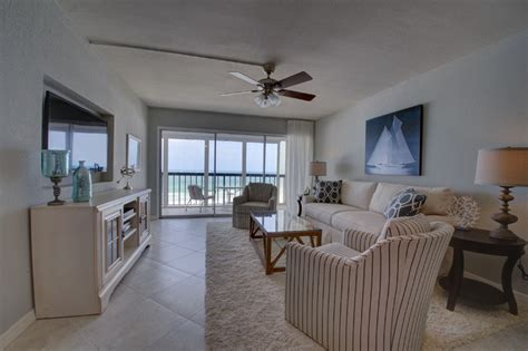 vintage florida beach condo   transitional remodel beach style living room tampa