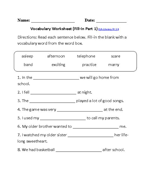 19 Best Images Of Esl Vocabulary Worksheets For Beginners  Free Printable Esl Vocabulary