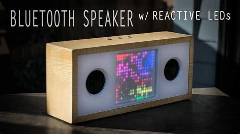 diy bluetooth speaker  reactive led matrix adafruit