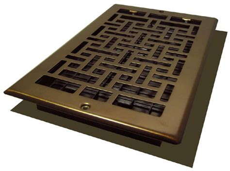 Rubbed Bronze Floor Registers by 6x12 Rubbed Bronze Steel Wall Register