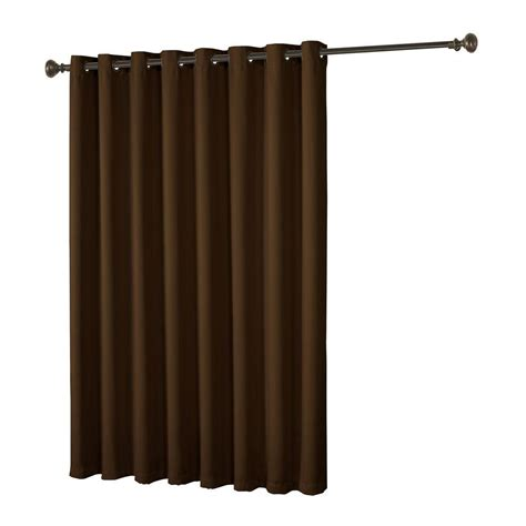 patio door curtains home depot woven blackout chocolate grommet