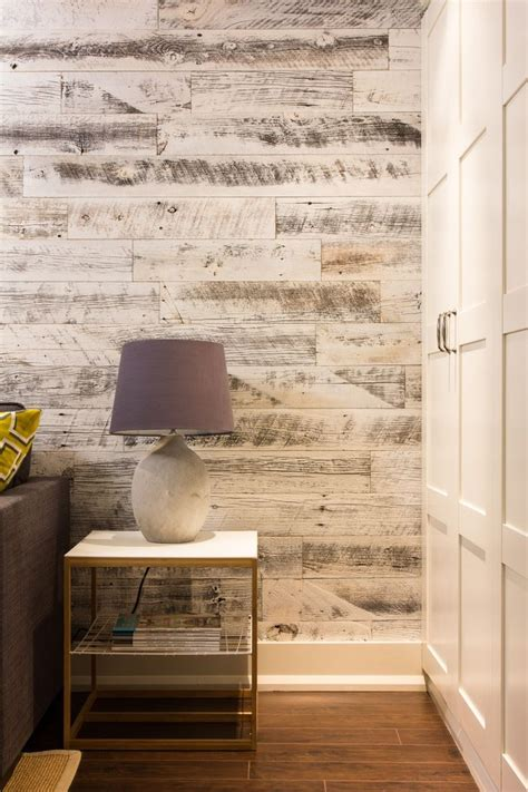 Wand In Holzoptik by A Bryk At A Time Stikwood Reclaimed Weathered Wood White