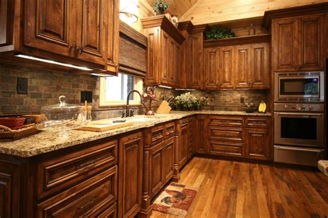 rustic cabin style traditional kitchen charlotte by walker woodworking