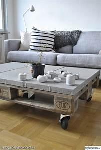 Table Basse En Beton : table basse palette top 69 des id es les plus originales en 2017 ~ Farleysfitness.com Idées de Décoration