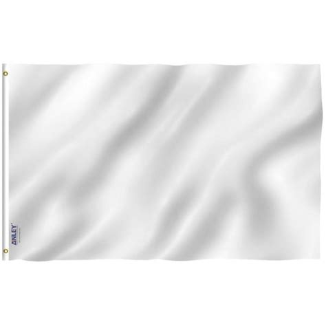 ANLEY Fly Breeze 3 ft. x 5 ft. Polyester Solid White Flag ...