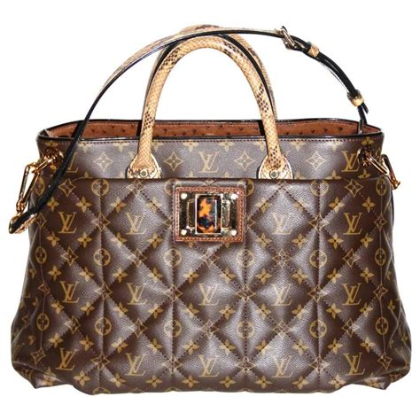 louis vuitton tote monogram etoile bag quilted canvas limited edition  stdibs