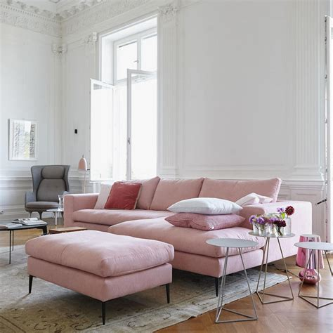 red and grey sofa 16 ultra chic blush pink sofas how to style them