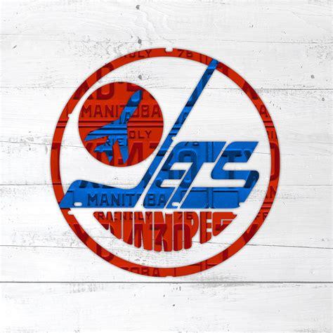 Modification License Winnipeg by Winnipeg Jets Retro Hockey Team Logo Recycled Manitoba
