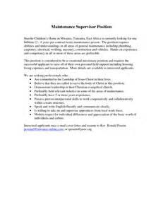 supervisor resume sle resume cover letter mistakes resume cover letter