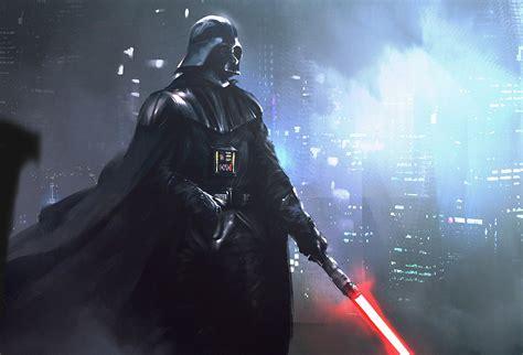 star wars darth vader artwork digital art lightsaber