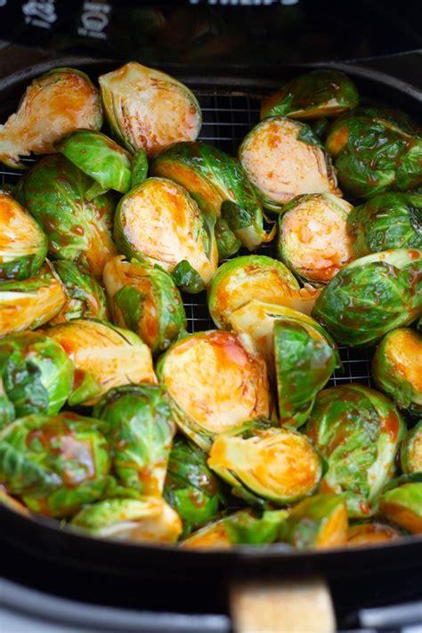 sprouts fryer air brussels brussel cook minutes basket prep bowl