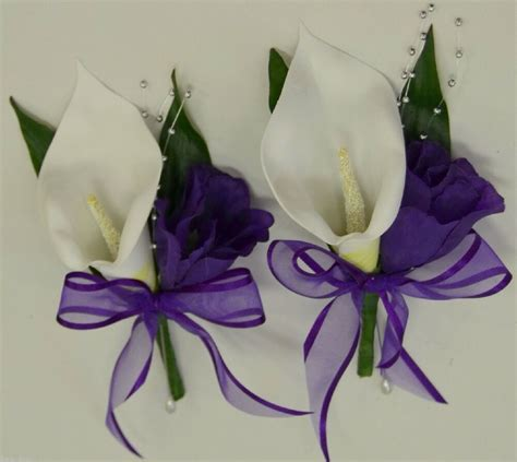 wedding flower bridal flowers silk calla lily pin