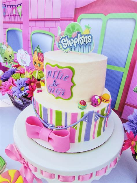 karas party ideas colorful shopkins birthday party kara