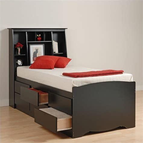 twin bookcase storage bed black tall twin bookcase platform storage bed bbt 4106 kit